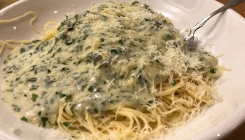 Olive Garden Creamy Mushroom Sauce Review Never Ending Pasta Month Sheepie Niagara