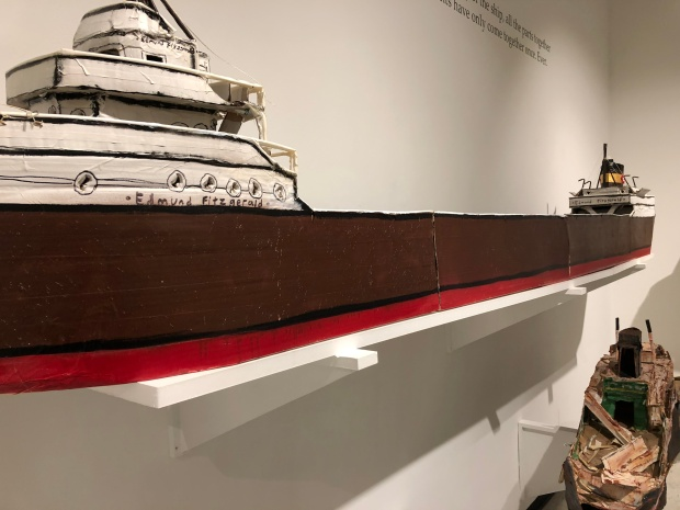 Justin Higner model of Edmund Fitzgerald.