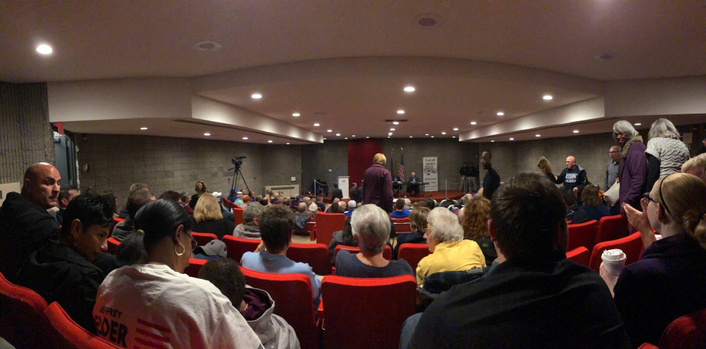 Niagara Falls 2019 Mayoral Debate crowd at Niagara Falls Public Library. October 22, 2019