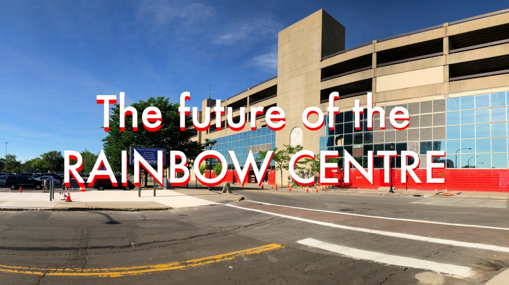 Vacant Rainbow Centre Mall in Niagara Falls. Summer 2019