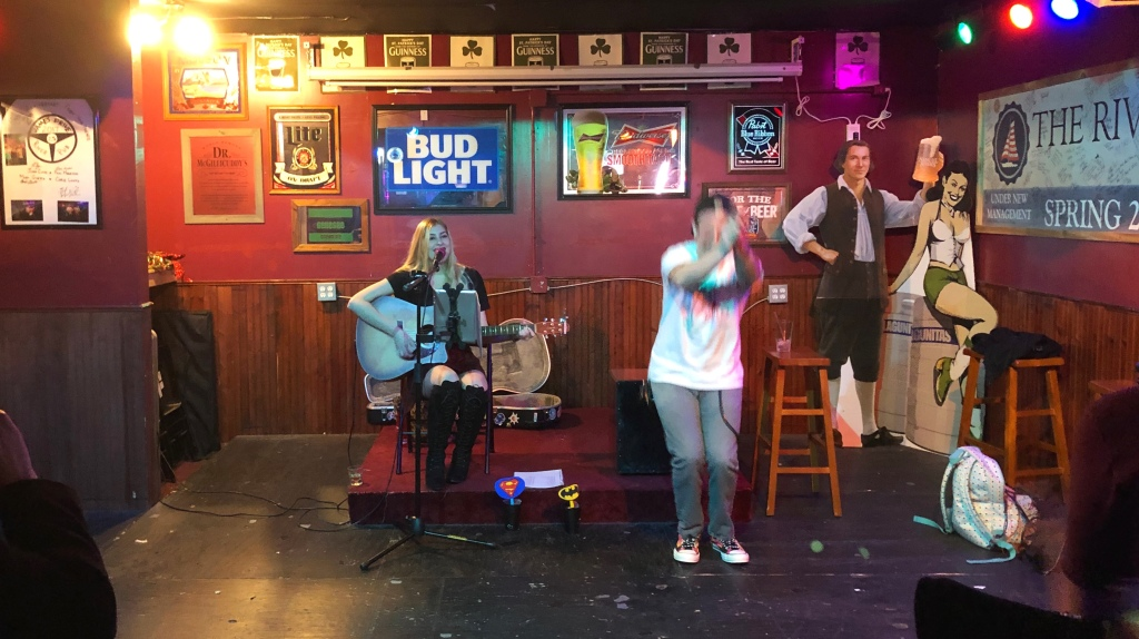 Lexxi Raine performs at River Pub with Richard Miller.