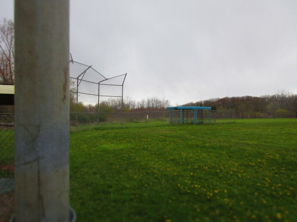 Empty baseball field at Deveaux Woods State Park. Niagara Falls, NY