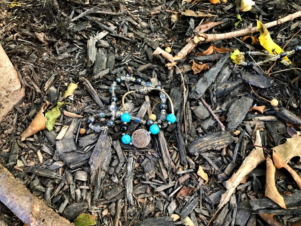 Bracelets left at Eliza Keig gravesite.