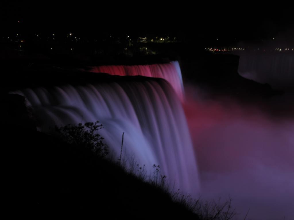 Niagara Falls Illuminated from Prospect Point