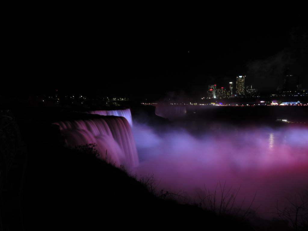 American Falls Illuminated. Niagara Falls.