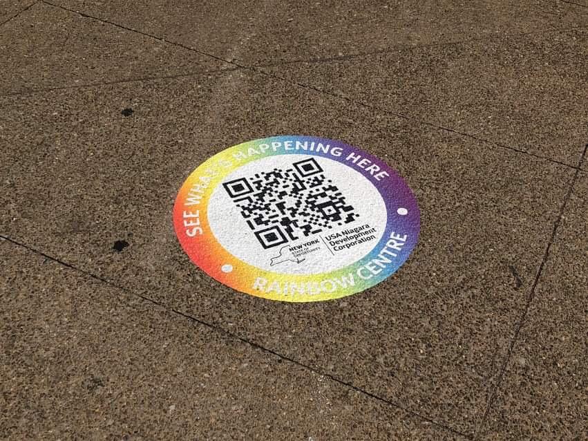 QR code near Rainbow Centre. Niagara Falls, NY