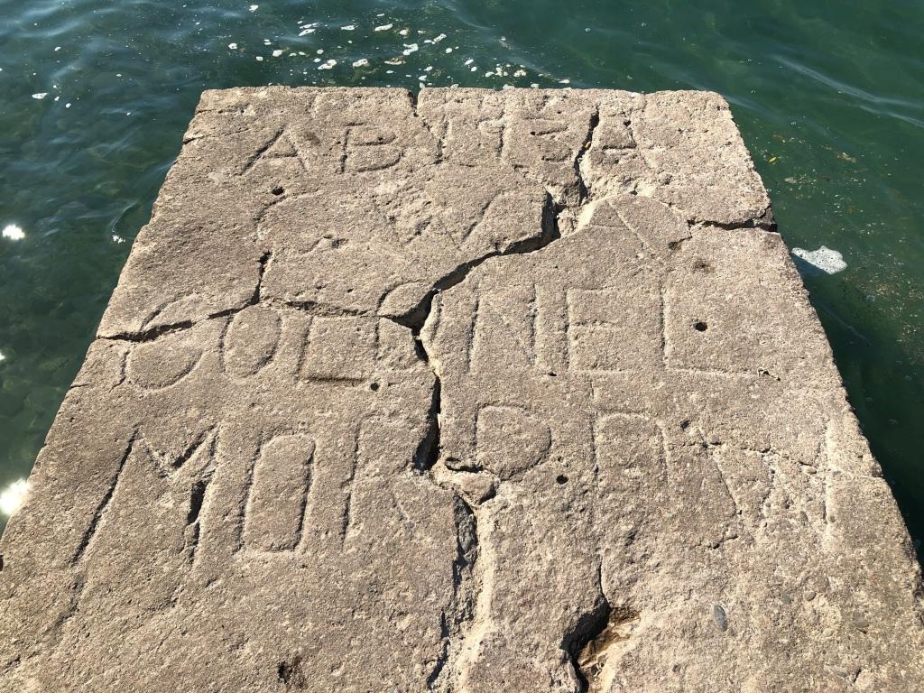 Stone wall Fort Niagara. AB 1934 CWA Colonel Morrow